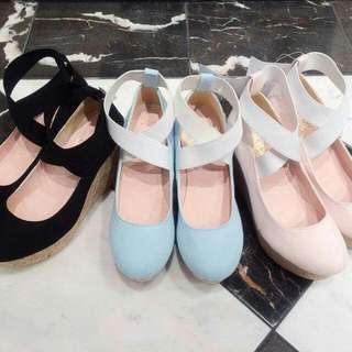 E Hyphen BonBon ballerina Wedge Shoes