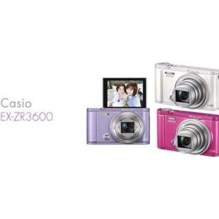 CASIO ZR3600 / ZR-3600 只要月付300元以上月租運費100元帶走 免預繳 買空機也可以全額分期0利率