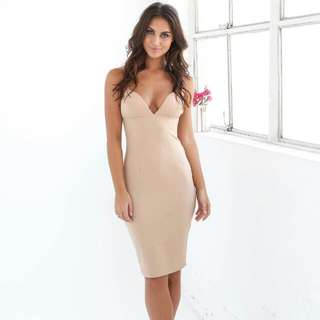 Small Nude Mid Length Dress