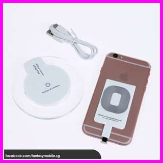 iPhone Wireless Charging Conversion Kit Charger (charging pad, wireless charging adaptor, adapter, apple)