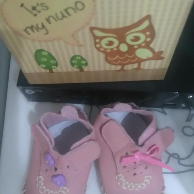 全皮手工娃娃鞋