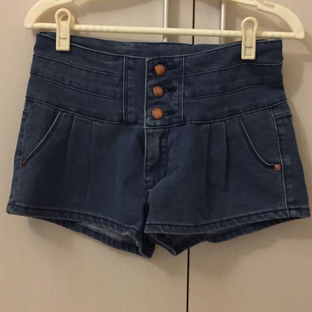 牛仔短褲(中腰)