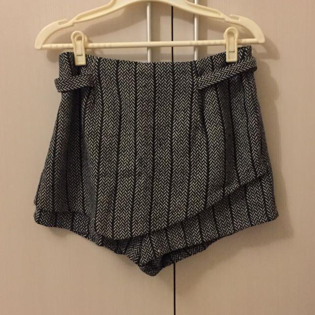 針織不規則褲裙