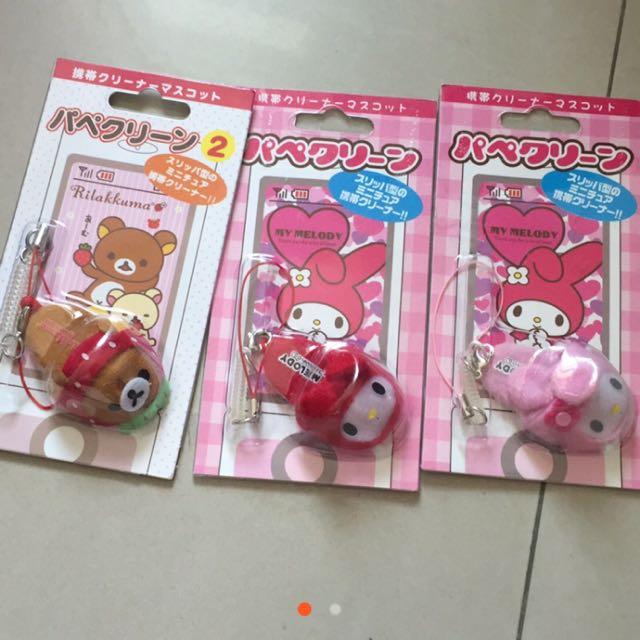 日本限定/美樂蒂、拉拉熊-指套擦拭飾品/大特價