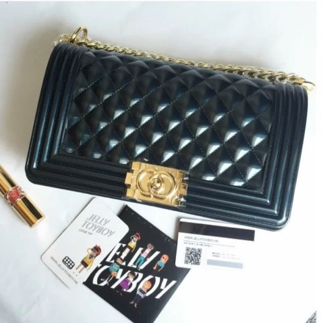bd25c36e2bc0 Authentic Jelly Toy Boy Chance Series Chain Bag Cross body I Am Not Chanel,  Luxury on Carousell
