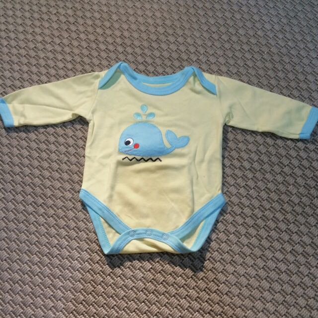 Big Blue Whale Long-sleeved Bodysuit