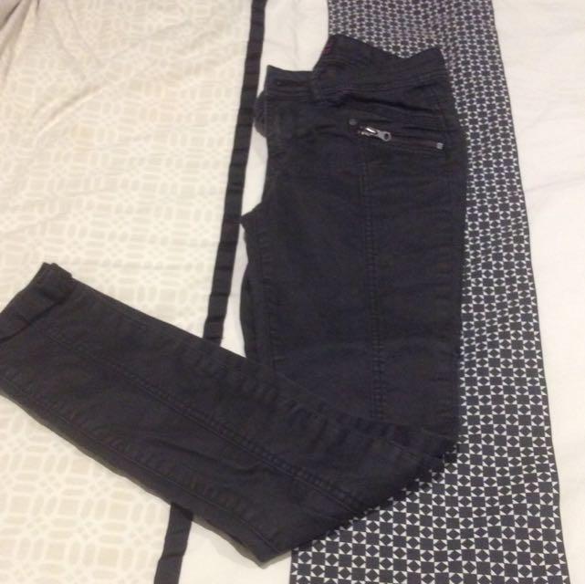 Black Material World Jeans Sz 8