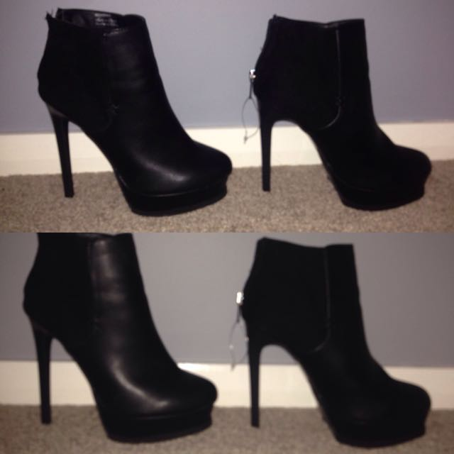 Black Platform stilettos