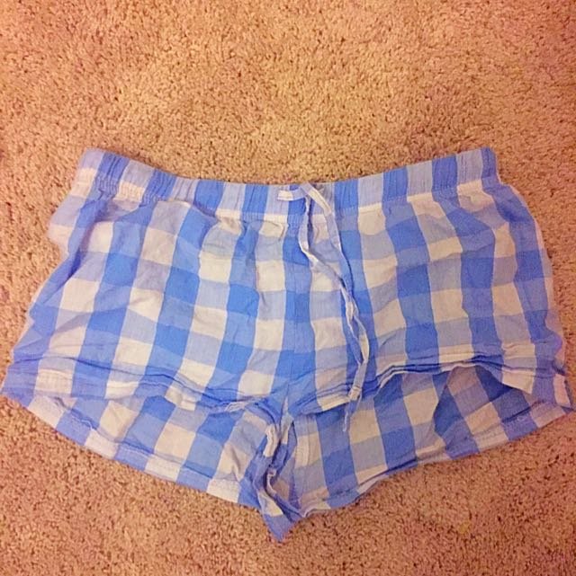 Blue Checker Pyjama Shorts