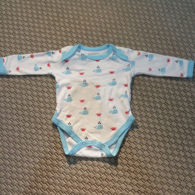 Blue Whale Long-sleeved Bodysuit