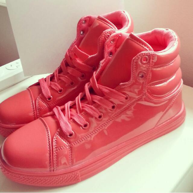 Bright Pink Shoes Beautiful