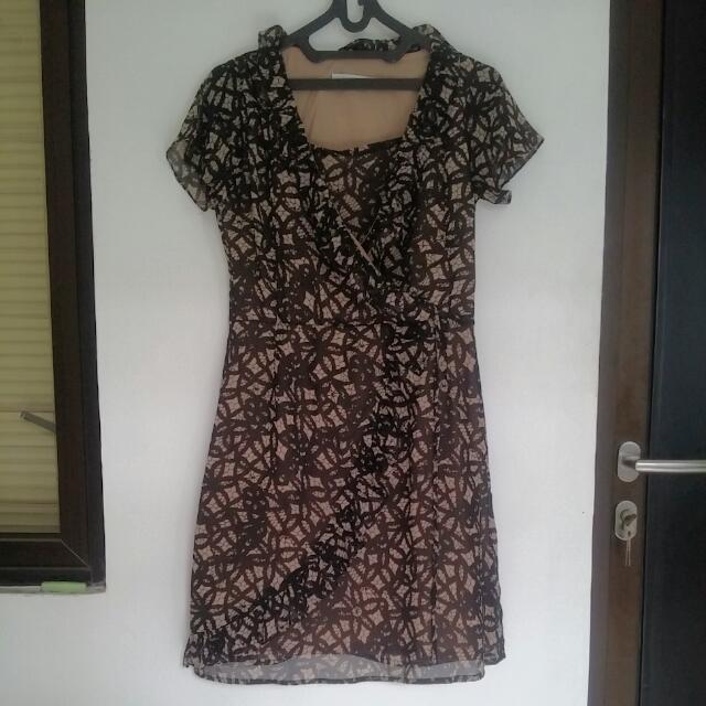 Brown Accent Dress