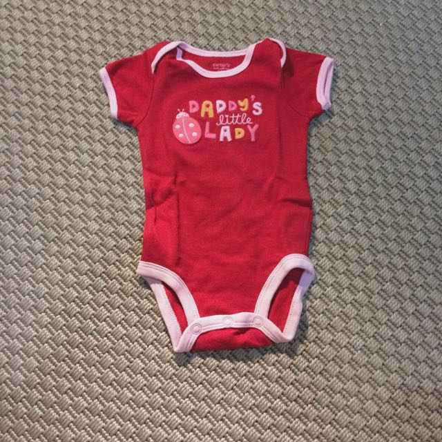 Daddy's Little Lady Red Bodysuit