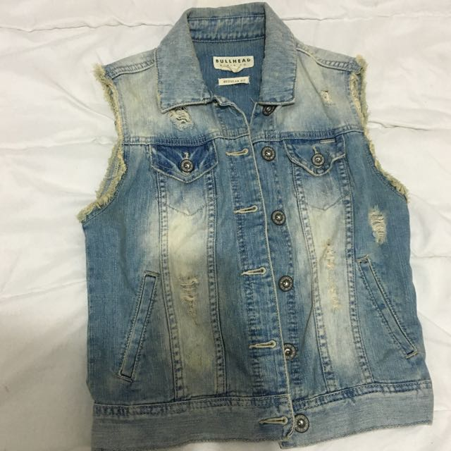Denim Vest From Pacsun
