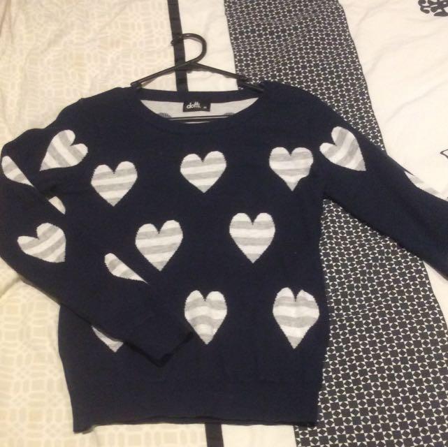 Dotti XS Heart Knit Navy