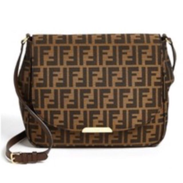 70e03dbb2d Fendi Sconto Signature Monogram Shoulder Bag 337368