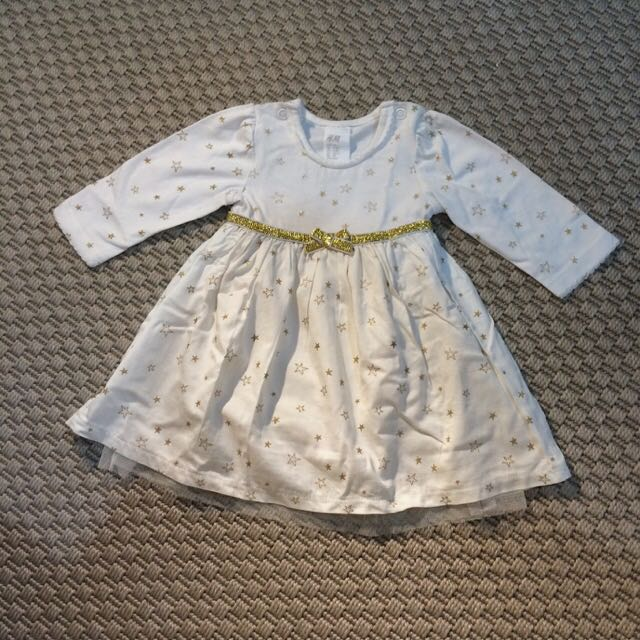 Gold Stars Girl Dress