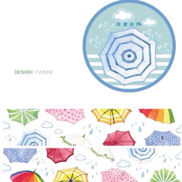[INSTOCK] Pretty Umbrella Washi by Yvonne