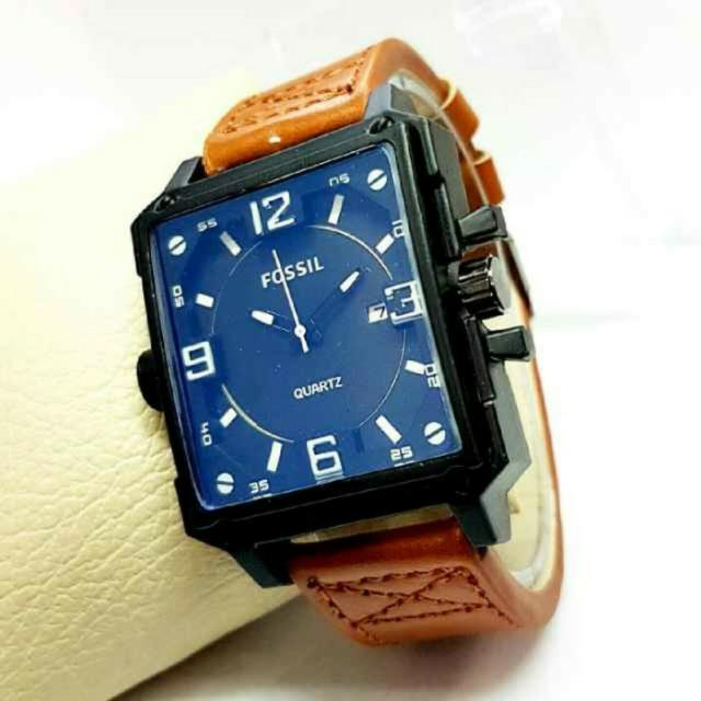 JAM TANGAN FOSIL LIGHT BROWN ANGKA WHITE