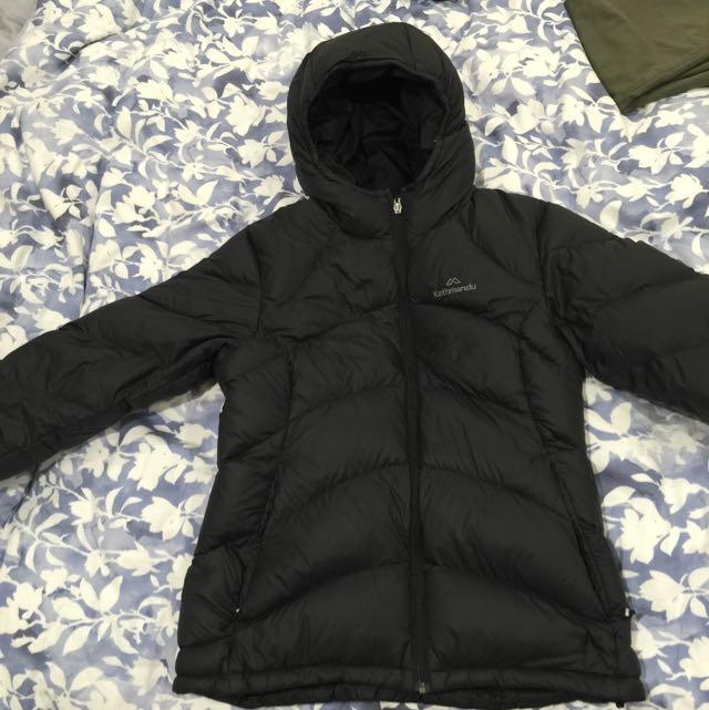 Kathmandu size 10 Duck Down Puffer Jacket - Black