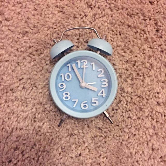 Little Blue Cute Clock