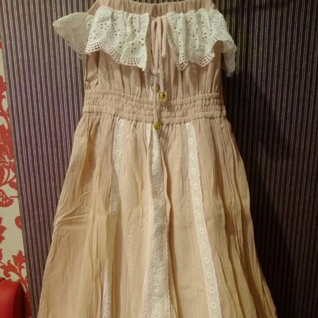 (降)全新Liz Lisa吊帶蕾絲長洋裝