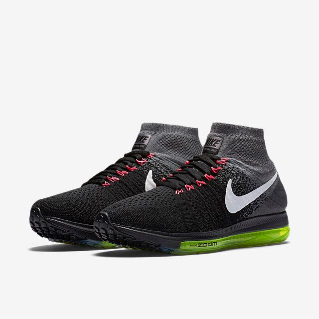 e0ca19998fb5 Nike Air Zoom All Out Flyknit (Women) - Black Cool Grey Volt White ...
