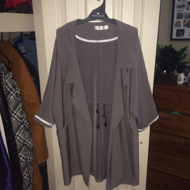 Romwe Grey Coat