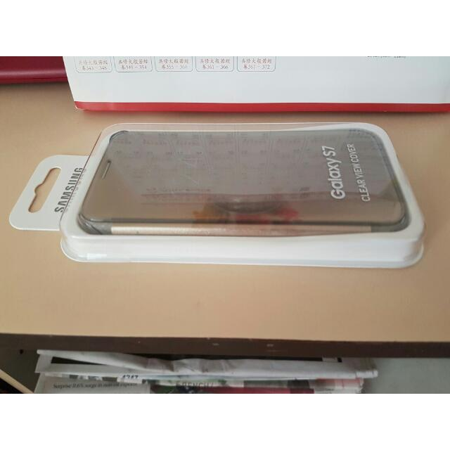 new style 65773 79e35 [BRAND NEW] GOLD Samsung Galaxy S7 Clear View Cover