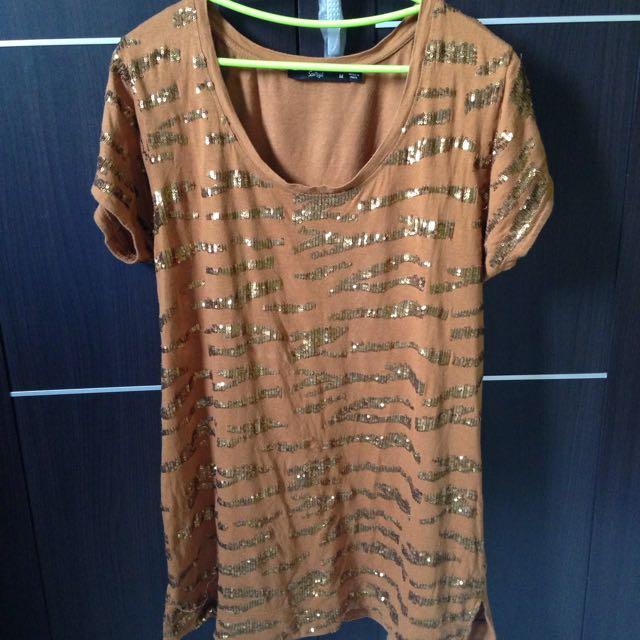 Sportsgirl Brown Oversize T-Shirt