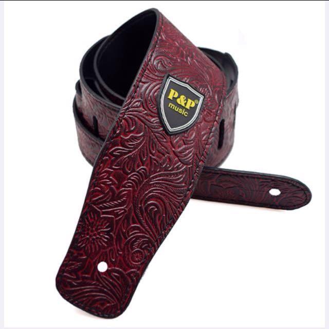 [New stock] Stylish PU Leather Guitar Strap