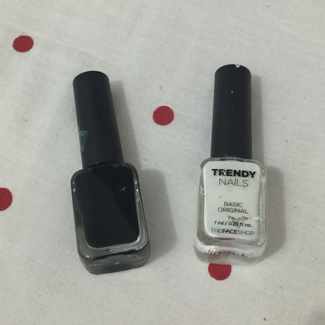 The Face Shop Black And White Trendy Nails