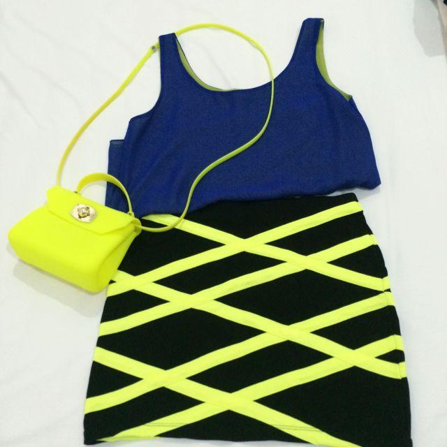 Top, Skirt And Candy Bag