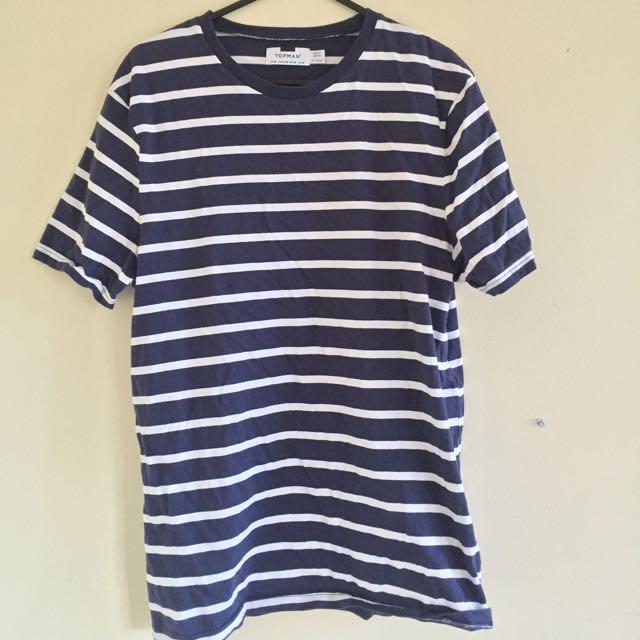 Topman Striped t-Shirt, Size M