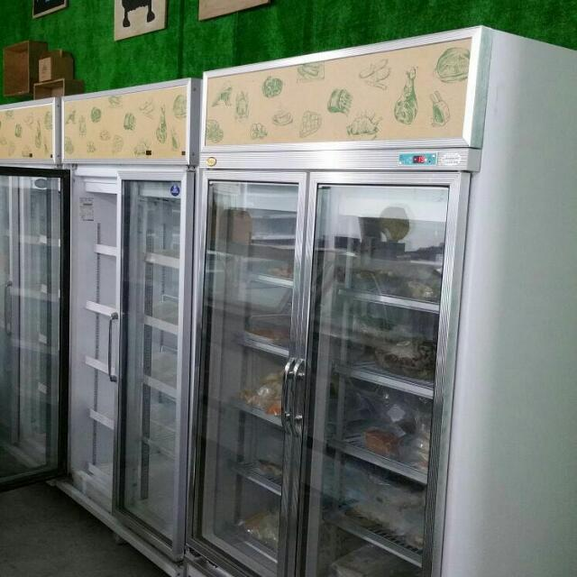 Two Door Glass Chiller And Freezer For Sale Home Appliances On