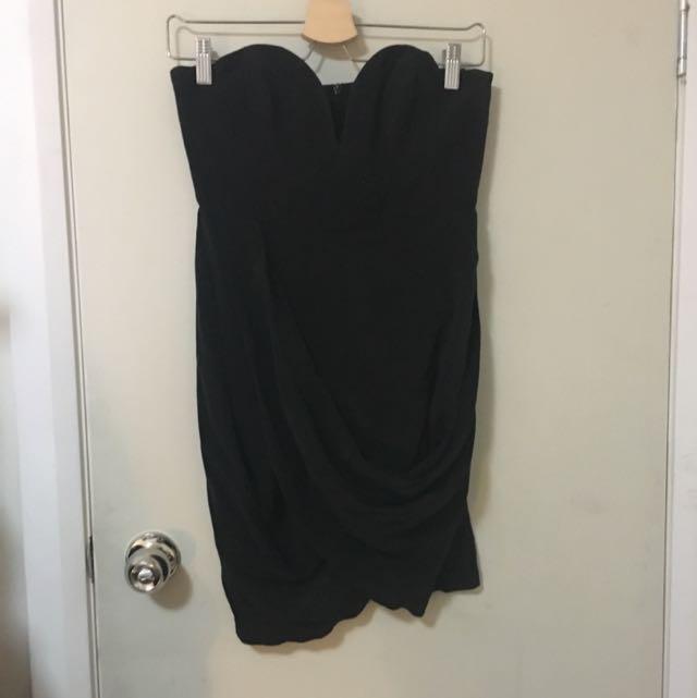 Zimmermann Silk Strapless Drape Dress