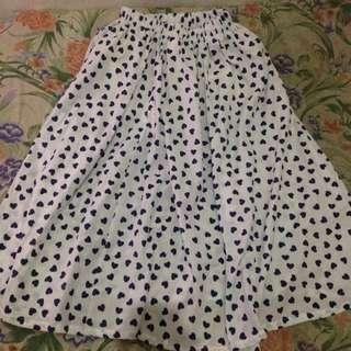 Midi Flare Love Skirt
