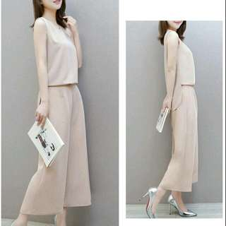 BRAND NEW IN PACKAGING Trendy Korean Two-piece Pants Suit