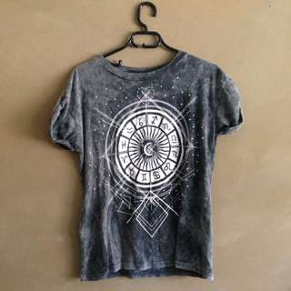 Zodiac Acid Wash T Shirt