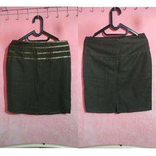 Bronze Mini Skirt