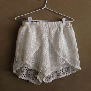 Crochet High Shorts
