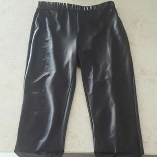 Size Small Full Length Charlie Brown Leather Look Leggings