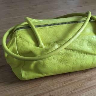 Miu Miu Neon Yellow Handbag