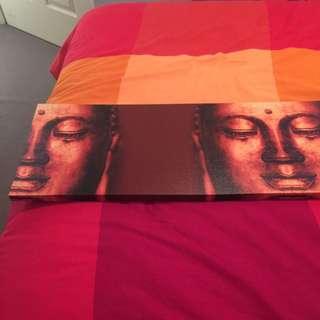 Long 3 Face Buddha Frame