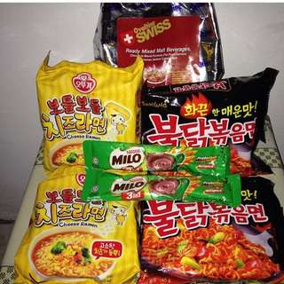 Samyang,cheese Ramen,ovaltine,dll