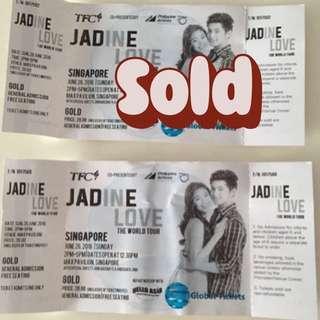 Jadine Love - The World Tour X 1 Ticket