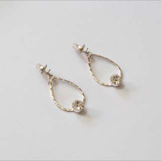 Silver Coloured Clip On Earring