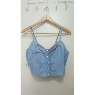 Forever New Denim Crop Top