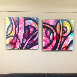 Abstract line series wall art (fr BARANG BARANG) -RESERVED