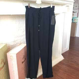 Zara Trouser In Deep Navy Blue